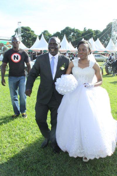 Mr. and Mrs. Kayanja at the Kakeeka cricket Oval.