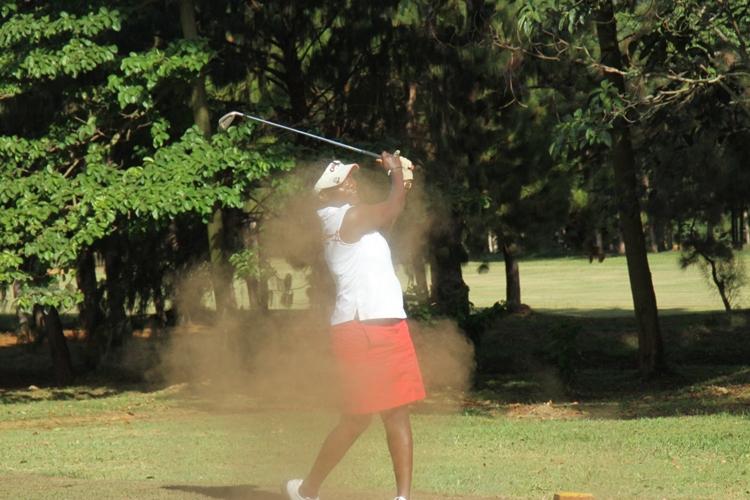 Irene Nakalembe in action on Friday.