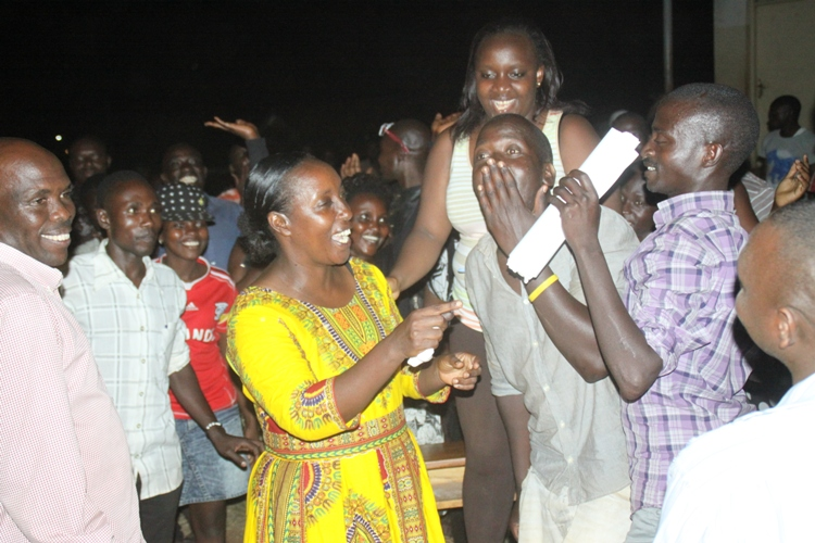Youth burst into joy after Rose Tumusiime was declared winner of the parliamentary seat.