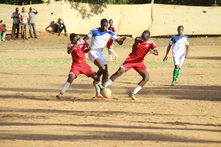 towering-solomon-wafula in a past league match. He equalized for Masavu On Sunday in their 1-1 draw with Entebbe.
