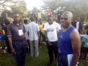 Deputy Mayor Richard Ssekyondo and Division 'A' Chairman Michael Mutebi participated in the 21km race.