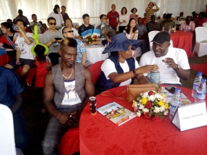 Moses Golola spent the better part of the event glued to his seat.