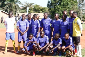 Entebbe select side beat Radio Sapentia presenters 1-0 in a friendly match.