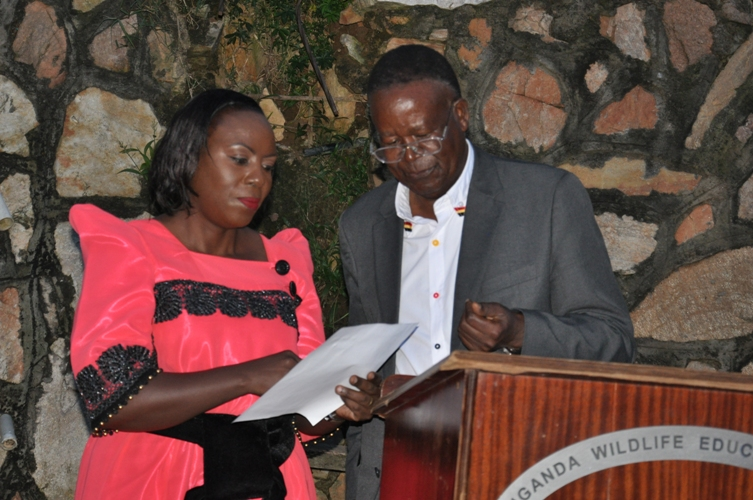 Tourism Minister officially inaugurates Flavia Kabahenda Rwabuhoro as the new UWEC Board Chairperson.
