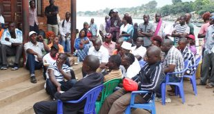 Some of the Kalangala fishermen and fish dealers who were pardoned by the UPDF Fisheries Protection Unit.