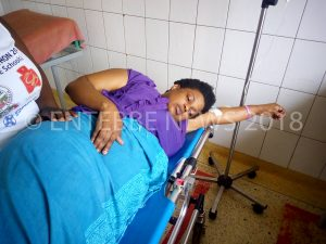 Big Brokers Manager Joy Kuteesa Mugisa Bedridden at Entebbe Grade B Hospital on Saturday.