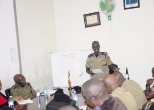 D/IGP Brig. Sabiiti Muzeeyi cautioned Police Bosses On Integrity and Professionalism.