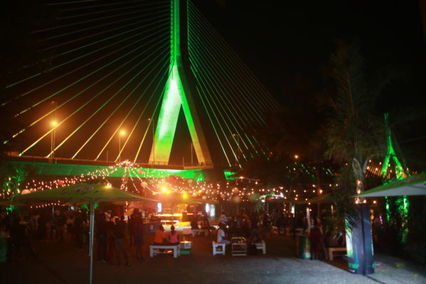 Tusker 'lites' up Jinja with Neon at the Bridge party