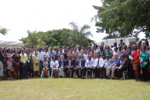 UVRI Staff and other participants pose for a group photo.