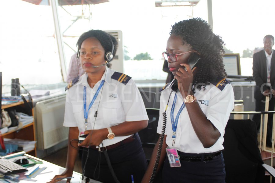 Female Air Traffic Control Officers On Duty.