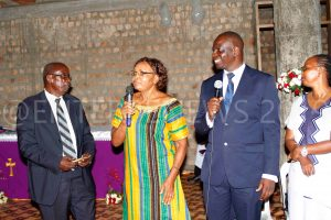 From left. Rtd Capt. Okweyo, Alice Okweyo, Eng. Ngobi and Evelyn during the fundraising service on Sunday.