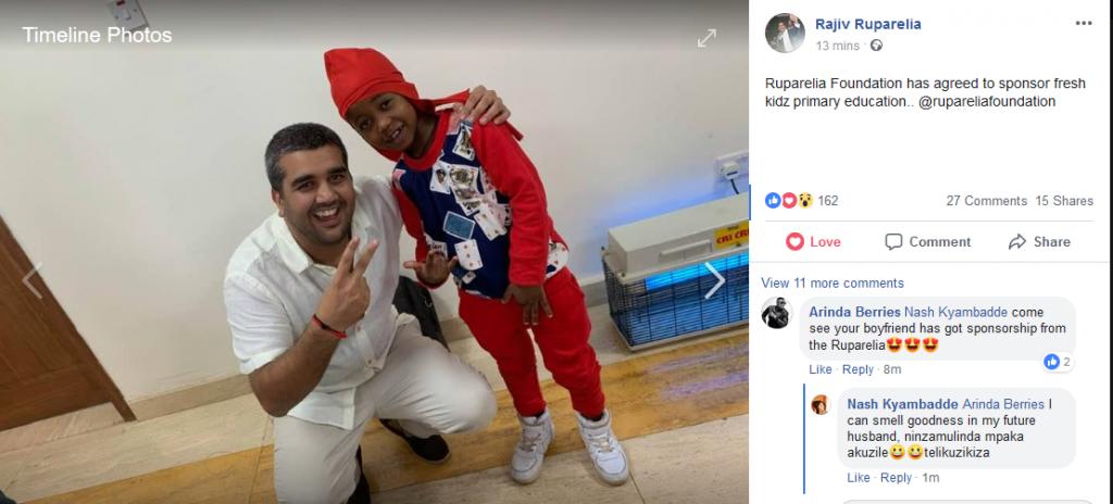 rajiv ruparelia with Fresh Kid