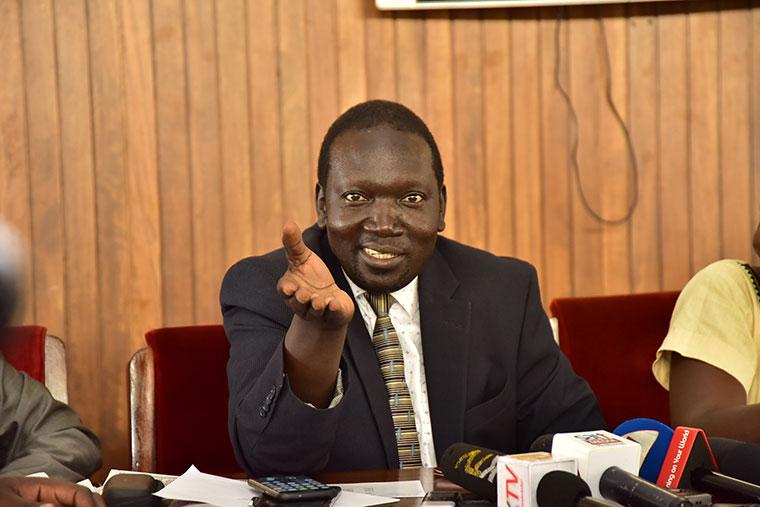 John Baptist Nambeshe  Manjiya County Member of Parliament in Bududa district