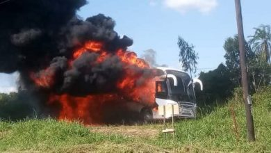 No Injuries as Parliament Bus Transporting Covid19 Patients Catches Fire