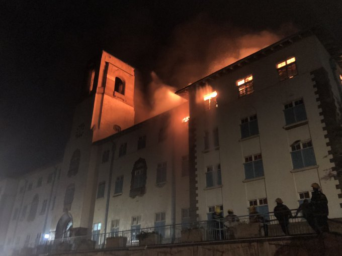 Fire guts Makerere University main building
