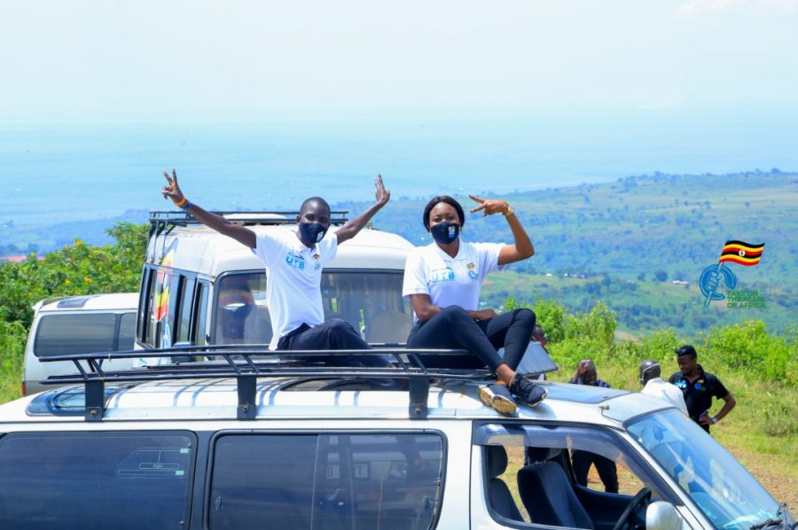 Tugume wins 'Take on pearl of Africa Campaign' enjoys Sipi Falls adrenaline rush (3)
