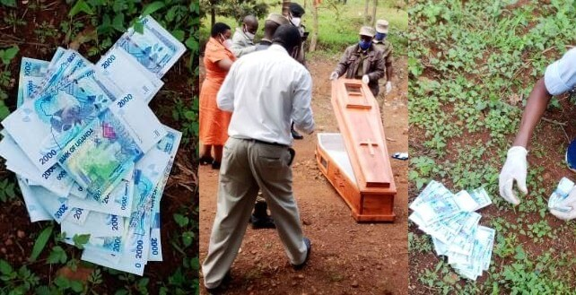 empty coffin dumped at aspiring mps house