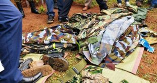 Buchaman Hands Over Numerous Army Uniform Replica Pieces to Police