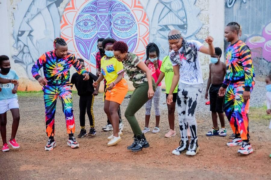 GLOBALLY RENOWED DANCE GROUP GHETTO KIDS MEET 'JERUSALEMA' STAR MASTER KG IN UGANDA  FACILITATED BY SHEEBAH