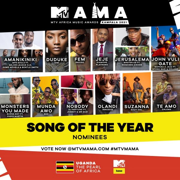 EDDY KENZO, B2C NOMINATED FOR UPCOMING MTV AFRICA MUSIC ...