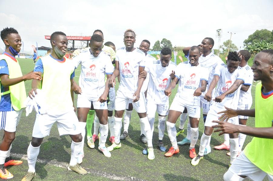 Buddu players jubliate their lone goal against Bulemeezi (1)