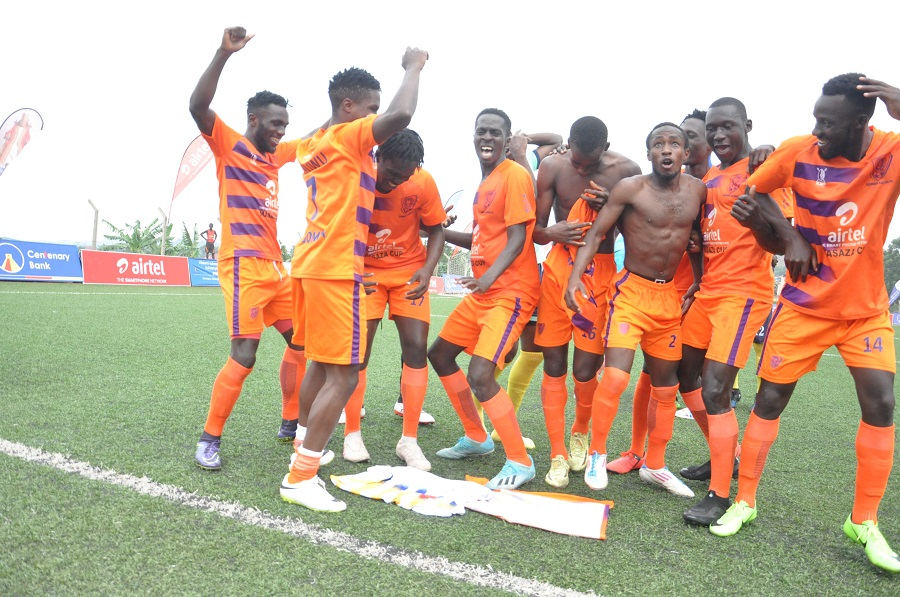 Gomba players jubilate their success