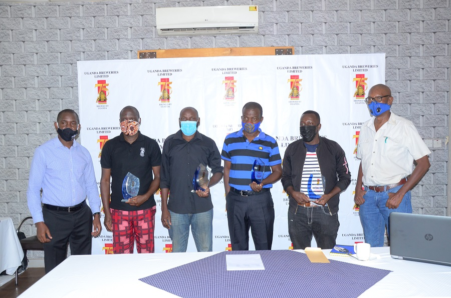 Uganda Breweries Awards Winners of the UBL@75 Media competition